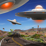ufos over the desert
