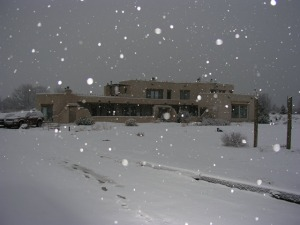 Snow in Taos