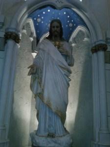 Jesus in alcove