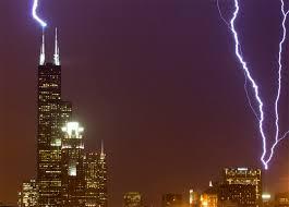 Lightning hitting Tall Buildings