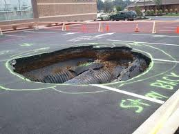 sink hole with pipes